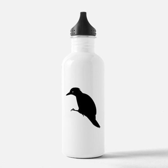Black Yaffle Silhouette Sports Water Bottle