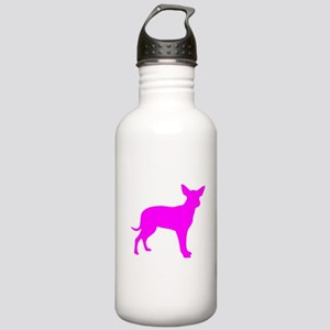 Pink Dingo Silhouette Sports Water Bottle