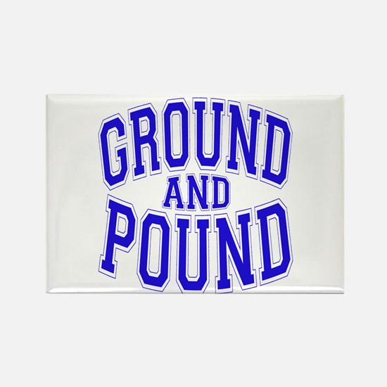 Ground and Pound Rectangle Magnet
