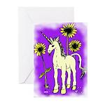 Sunflower Unicorn Greeting Cards (Pk of 10)