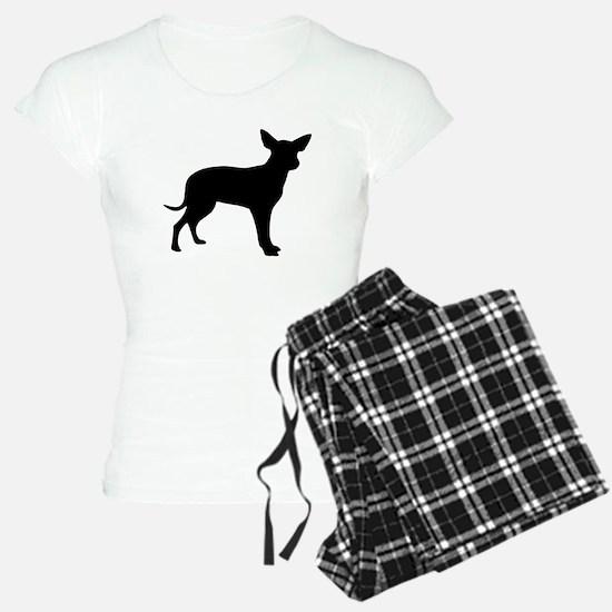 Black Dingo Silhouette pajamas