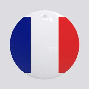 Flag of France Ornament (Round)