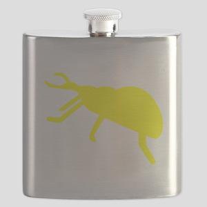 Yellow Beetle Silhouette Flask