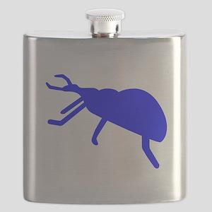 Blue Beetle Silhouette Flask