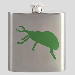 Green Beetle Silhouette Flask