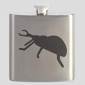Black Beetle Silhouette Flask