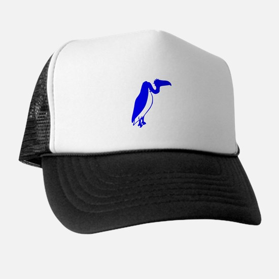 Blue Vulture Silhouette Hat