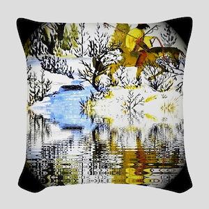 Winter Warrior Special Woven Throw Pillow