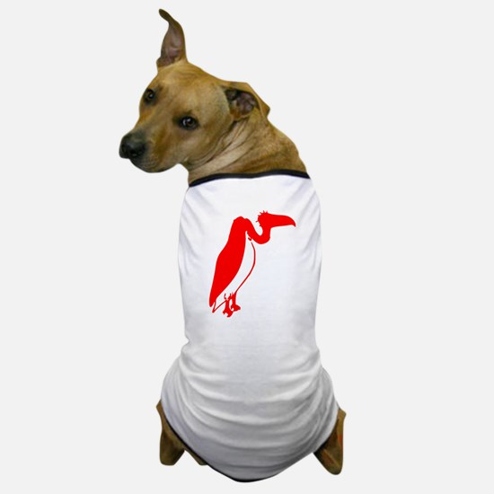 Red Vulture Silhouette Dog T-Shirt