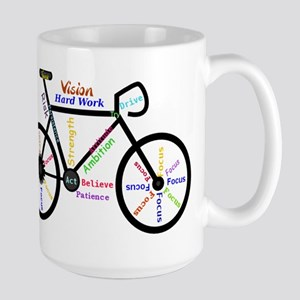Bike made up of words to motivate Mugs