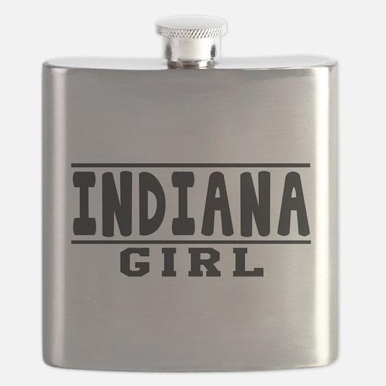 Indiana Girl Designs Flask