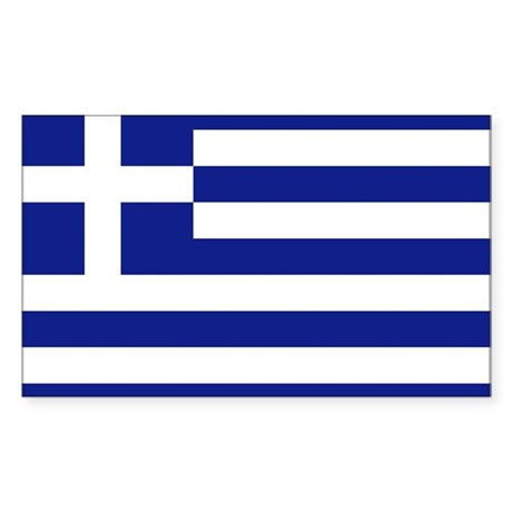 Flag of Greece Rectangle Sticker