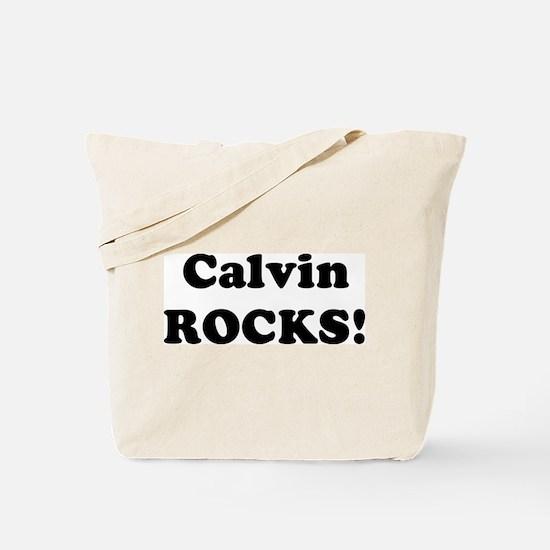 Calvin Rocks! Tote Bag