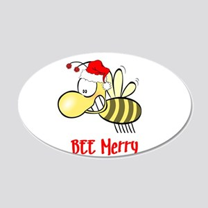 BEE Merry 20x12 Oval Wall Decal
