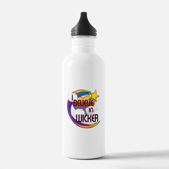 I Believe In Wicker Cute Believer Design Water Bottle