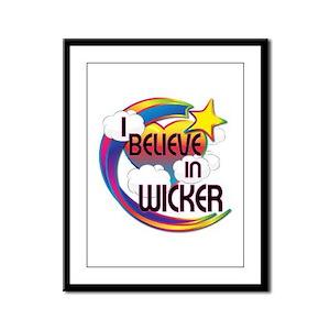 I Believe In Wicker Cute Believer Design Framed Pa