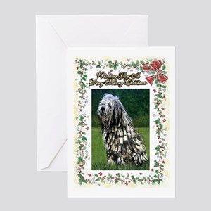 Bergamasco Dog Christmas Greeting Cards