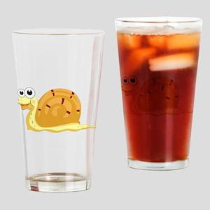 Cartoon Snail Drinking Glass