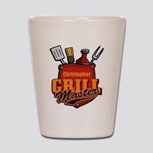 Pocket Grill Master Personalized Shot Glass
