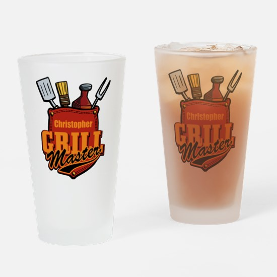 Pocket Grill Master Personalized Drinking Glass