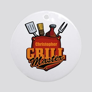 Pocket Grill Master Personalized Ornament (Round)
