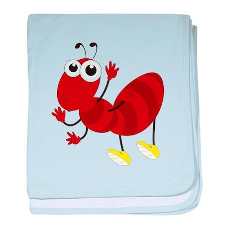 Cartoon Fire Ant baby blanket