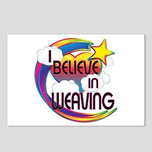 I Believe In Weaving Cute Believer Design Postcard
