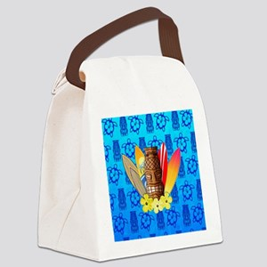 Tiki And Surfboards Canvas Lunch Bag