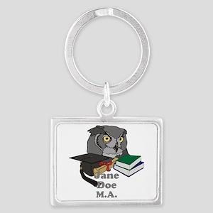Custom Owl Graduate Keychains