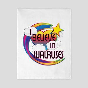 I Believe In Walruses Cute Believer Design Twin Du