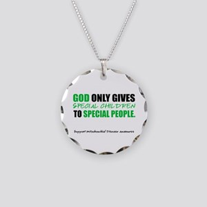 God Only Gives (Mito Awareness) Necklace Circle Ch