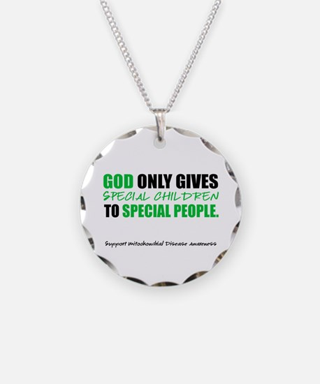 God Only Gives (Mito Awareness) Necklace