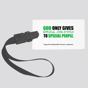 God Only Gives (Mito Awareness) Large Luggage Tag