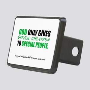 God Only Gives (Mito Awareness) Rectangular Hitch