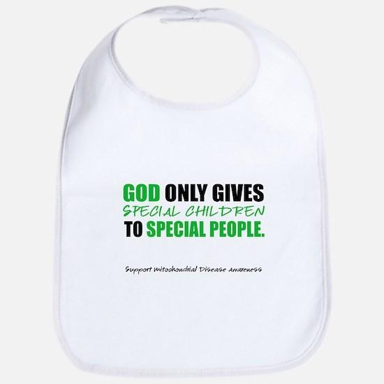 God Only Gives (Mito Awareness) Bib