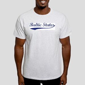 Blue Vintage: Baltic States Ash Grey T-Shirt
