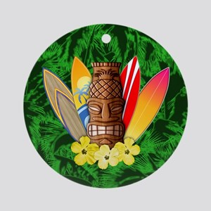 Tiki And Surfboards Ornament (Round)