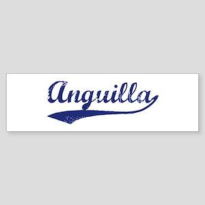 Blue Vintage: Anguilla Bumper Sticker
