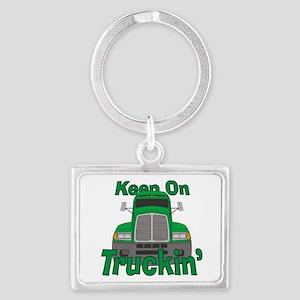 Keep On Truckin Landscape Keychain