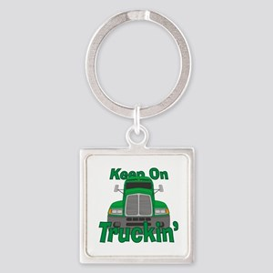 Keep On Truckin Square Keychain