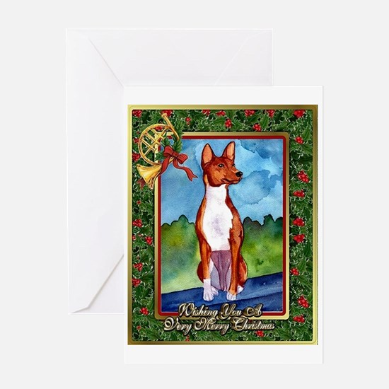 Basenji Dog Christmas Greeting Cards
