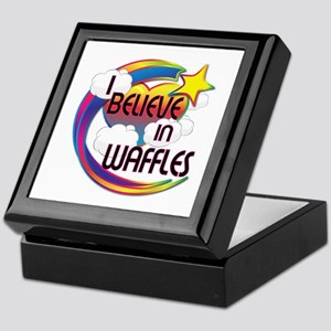 I Believe In Waffles Cute Believer Design Keepsake