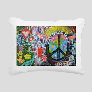 Graffiti in Prague Rectangular Canvas Pillow
