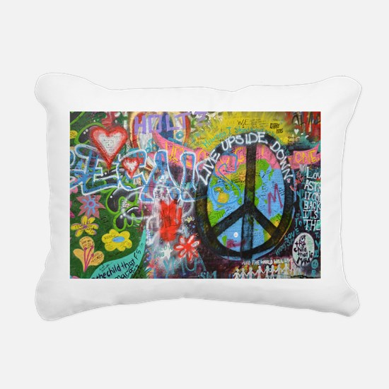 Graffiti in Prague Rectangular Canvas Pillow