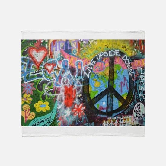 Graffiti in Prague Throw Blanket