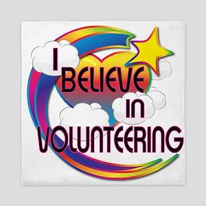 I Believe In Volunteering Cute Believer Design Que