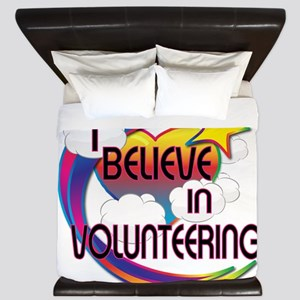 I Believe In Volunteering Cute Believer Design Kin