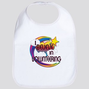 I Believe In Volunteering Cute Believer Design Bib