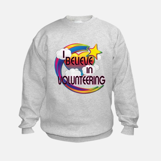 I Believe In Volunteering Cute Believer Design Kid