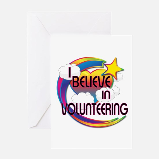 I Believe In Volunteering Cute Believer Design Gre